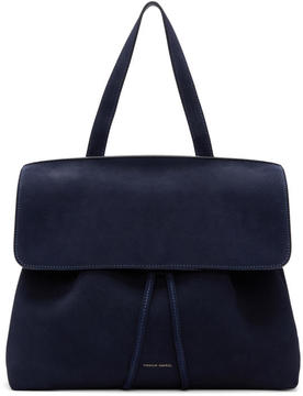 Mansur Gavriel Navy Suede Lady Bag