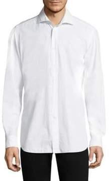 Luciano Barbera Cotton Spread Collar Dress Shirt