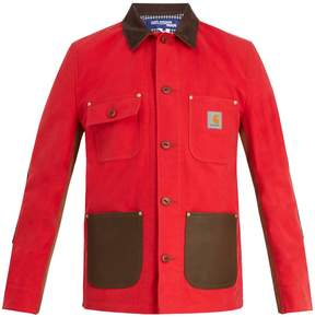 Junya Watanabe X Carhartt leather-trimmed cotton jacket