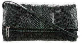 Hayward Fold-Over Snakeskin Crossbody Bag