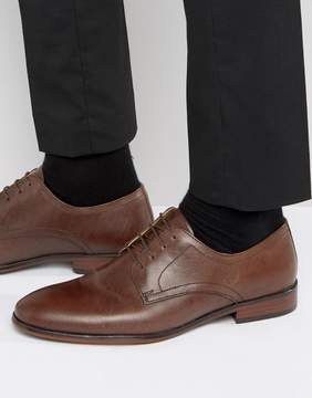 Red Tape Lace Up Smart Shoes In Brown Leather