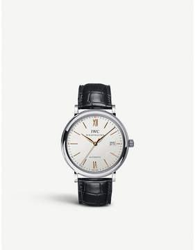 IWC IW356517 portofino automatic leather watch