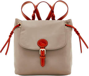 Dooney & Bourke Nylon Flap Backpack - GREY - STYLE