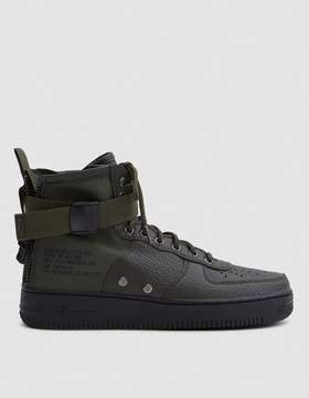 Nike SF Air Force 1 Mid Shoe in Sequoia Black
