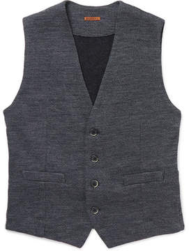 Barena Mélange Wool And Cotton-Blend Waistcoat