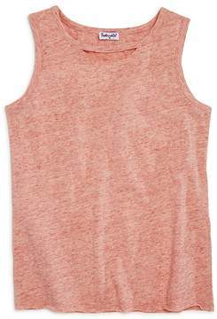 Splendid Girls' Melange Cutout Tank - Big Kid