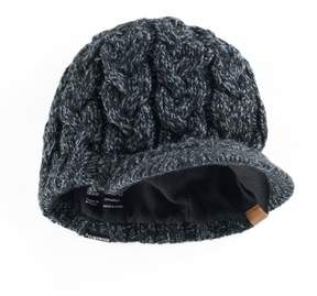 adidas Women's Crystal Marled Chunky Cable Knit Brimmer Beanie