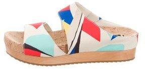 Alice + Olivia Printed Slide Sandals