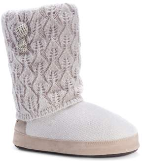 Muk Luks Women's Sofia Pointelle Knit Boot Slippers
