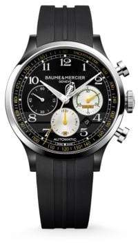 Baume & Mercier Capeland Shelby? Cobra 10281 Limited Edition Stainless Steel & Rubber Strap Watch