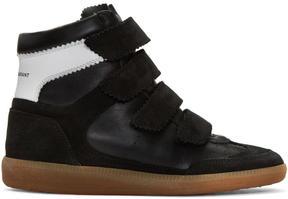 Isabel Marant Black Suede Bilsy Wedge Sneakers
