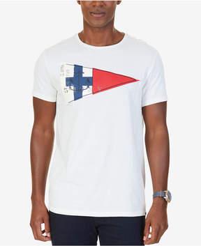 Nautica Men's Big & Tall Graphic-Print Applique T-Shirt