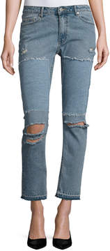 Cheap Monday Common Distressed Skinny Jeans, Blue