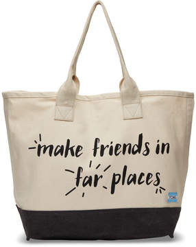 Toms Natural Make Friends In Far Places All Day Tote