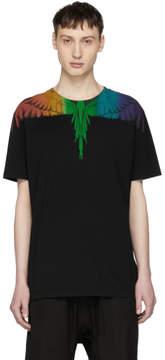 Marcelo Burlon County of Milan Black Rainbow Wing T-Shirt