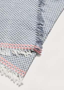 Violeta BY MANGO Geometric print scarf