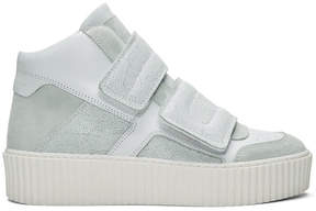 Maison Margiela White Platform High-Top Sneakers