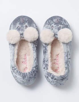 Boden Velvet Bear Slippers