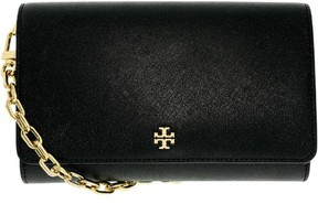 Tory Burch Robinson Chain Wallet Women Black Wallet NWT - BLACK - STYLE