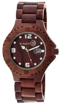Earth Eco-Friendly Dark Brown Wood Raywood Watch
