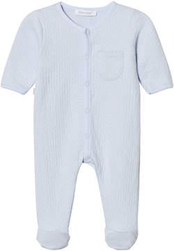 Absorba Pale Blue Textured Babygrow