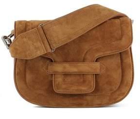 Pierre Hardy Women's Brown Suede Shoulder Bag.
