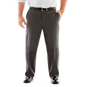 Jf J.Ferrar JF Stretch Gabardine Suit Pants-Big & Tall