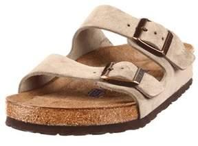 Birkenstock Womens Arizona Suede Open Toe Casual Slide Sandals.