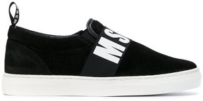 MSGM Teen logo print sneakers
