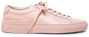 Common Projects Original Leather Achilles Low in Pink.