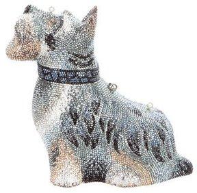 Judith Leiber Swarovski Crystal Schnauzer Dog Minaudière w/ Tags