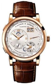 A. Lange & Söhne A Lange and Sohne Lange 1 116.032 18K Rose Gold Silver Dial 41.9 mm Mens Watch