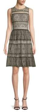 BCBGMAXAZRIA Point D'Esprit Tulle Dress