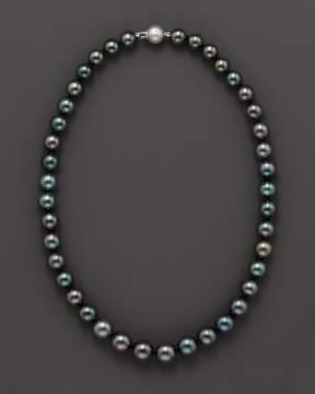 Bloomingdale's Tahitian Black Pearl Necklace, 18