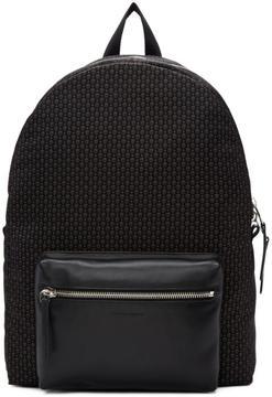 Alexander McQueen Black and Grey Skull Pocket Backpack