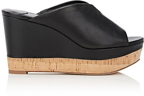 Diane von Furstenberg WOMEN'S MANILA LEATHER WEDGE MULES