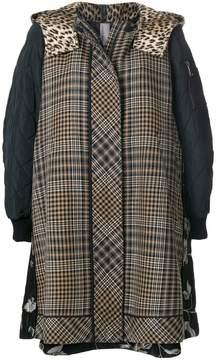 Antonio Marras panelled hooded jacket