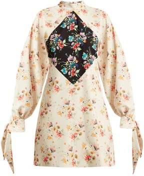 Christopher Kane Archive floral-print crepe mini-dress