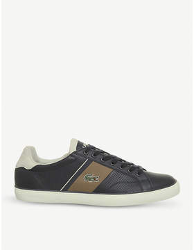 Lacoste Fairlead perforated leather trainers