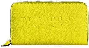 Burberry logo embossed zip around wallet