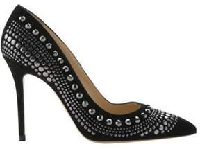 Roberto Festa Women's Liza Studded Stiletto Pump Black Suede Size 38 M.