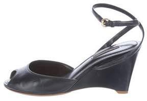 Louis Vuitton Leather Ankle-Wrap Sandals