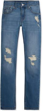 Levi's 511 Slim Fit Frayed Ripped Jeans, Big Boys (8-20)