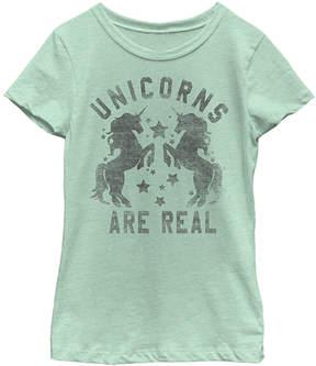 Fifth Sun Mint 'Unicorns Are Real' Tee - Girls
