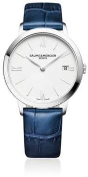Baume & Mercier Classima 10355 Stainless Steel & Alligater-Embossed Leather Strap Watch