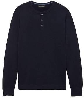 Banana Republic Cotton Henley Sweater