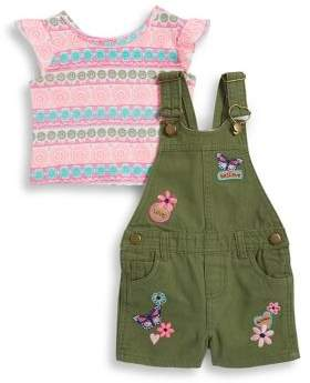 Little Lass Baby Girl's Tee and Shortall Set