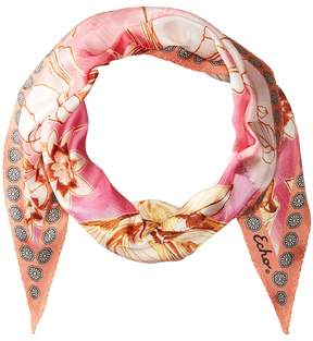 Echo Seaside Floral Silk Diamond Shape Scarf Scarves