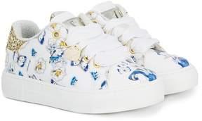 MonnaLisa Donald Duck print sneakers