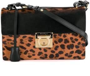 Salvatore Ferragamo leopard print Gancio Lock shoulder bag